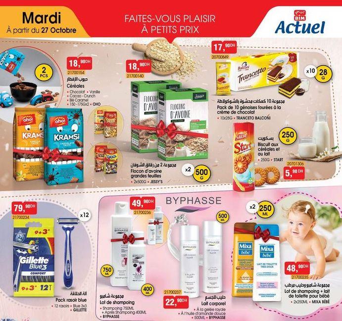 Catalogue BIM 27 Octobre 2020 : Produits alimentaires primordiaux